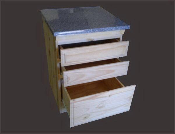 Bajo mesadas de pino popino for Tipos de granito para mesada