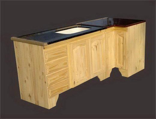 Muebles de cocina pino laqueado ideas for Bajo mesada lavadero